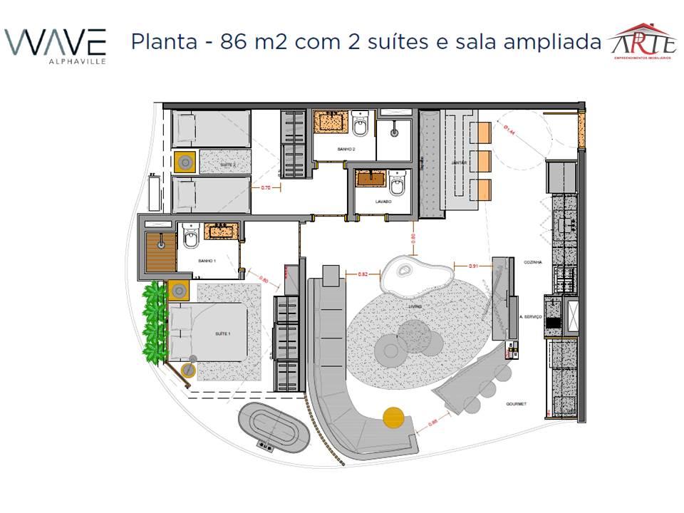 Wave Alphaville – Apartamentos a venda em Alphaville