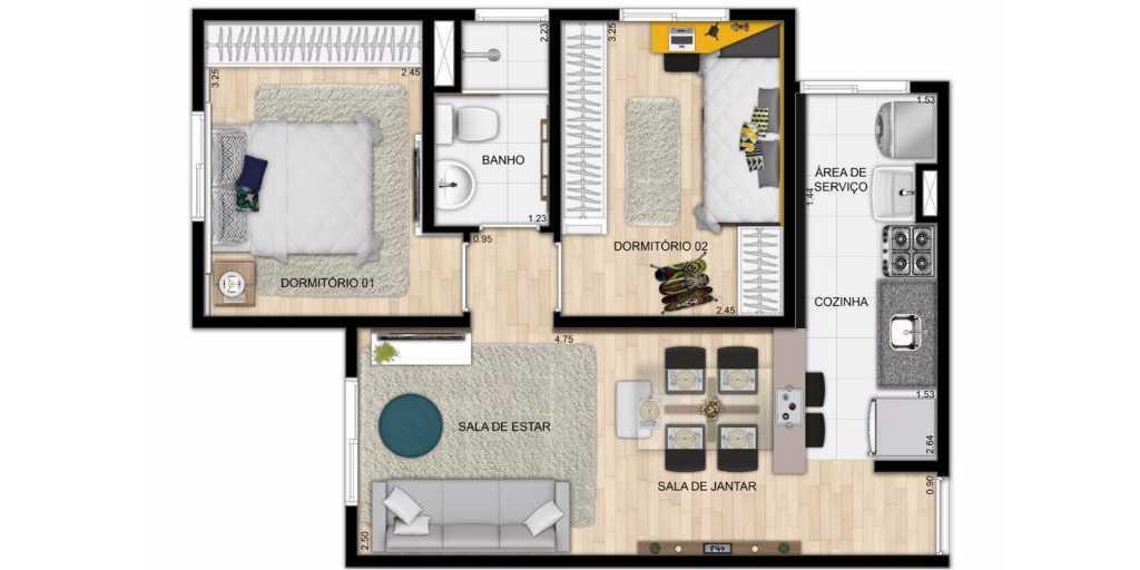 apartamento a venda em jandira barueri itapevi - praça estação jandira - planta 45m